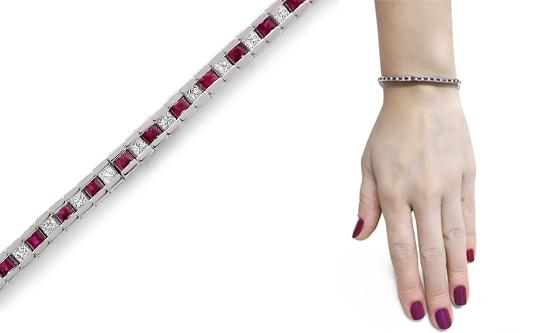Diamond Tennis Line Bracelets In 14 Karat Gold
