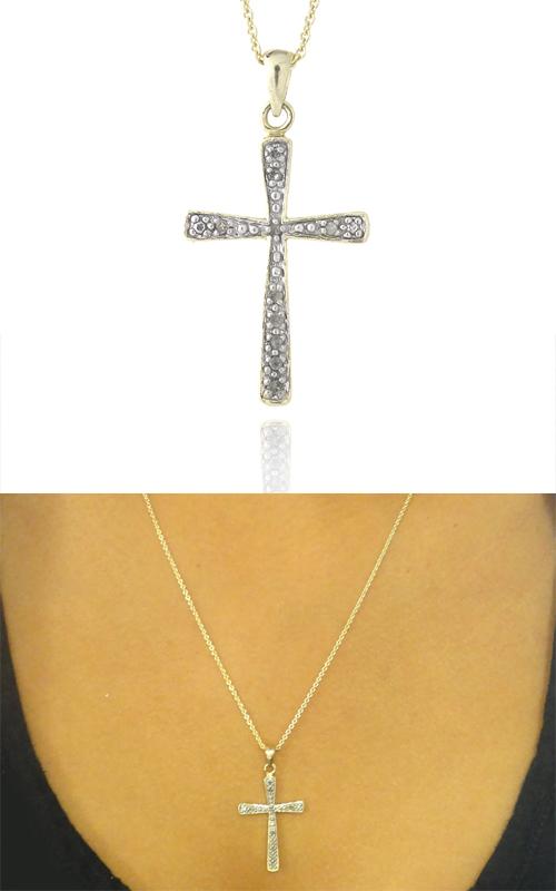 Diamond heart and cross pendant necklaces aloadofball Images
