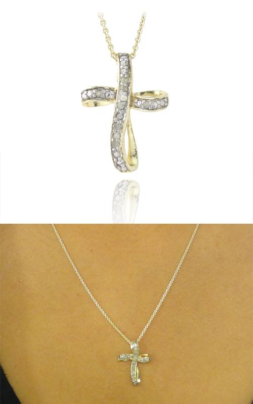 Diamond heart and cross pendant necklaces aloadofball Gallery