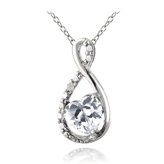 gemstone infinity heart necklaces