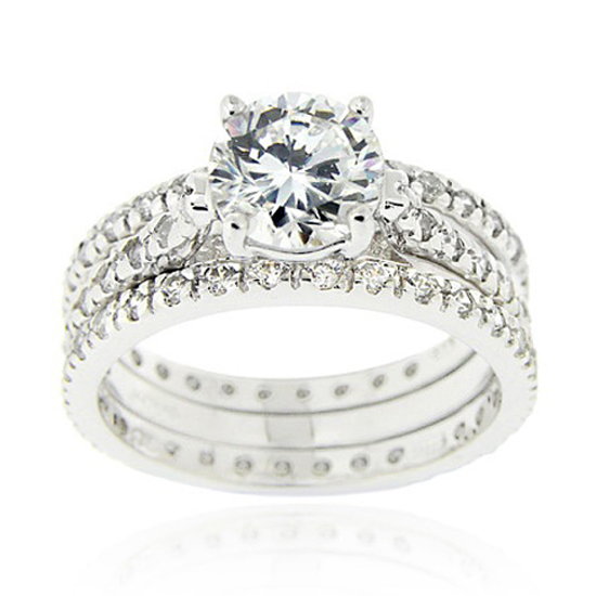 cubic zirconia engagement ring sets