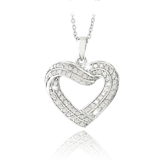 12 carat diamond open heart necklaces mozeypictures Choice Image