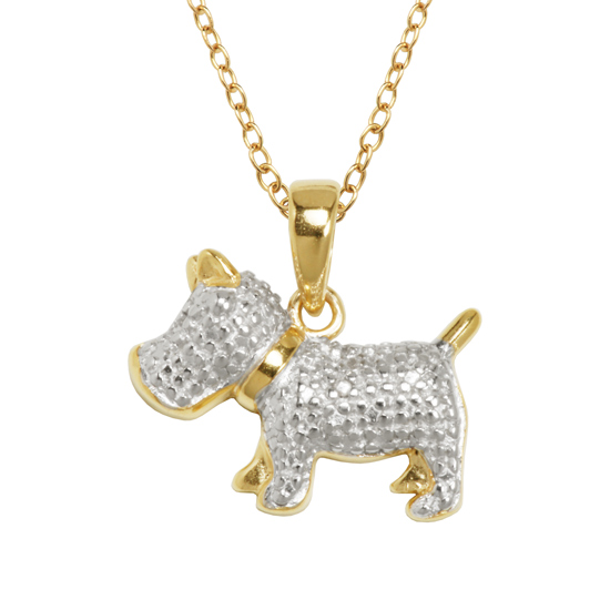 Diamond accented animal pendants mozeypictures Images