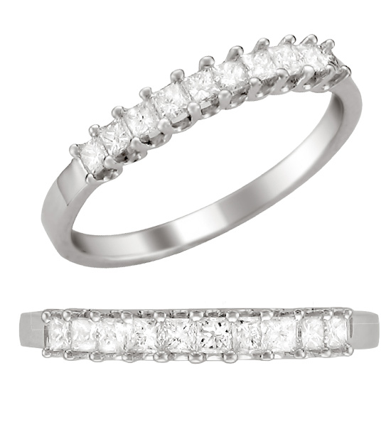princess cut diamond wedding bands - Princess Cut Diamond Wedding Ring