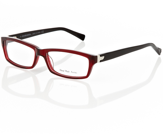 womens burgundy black plastic frame with clear lens 116 list price