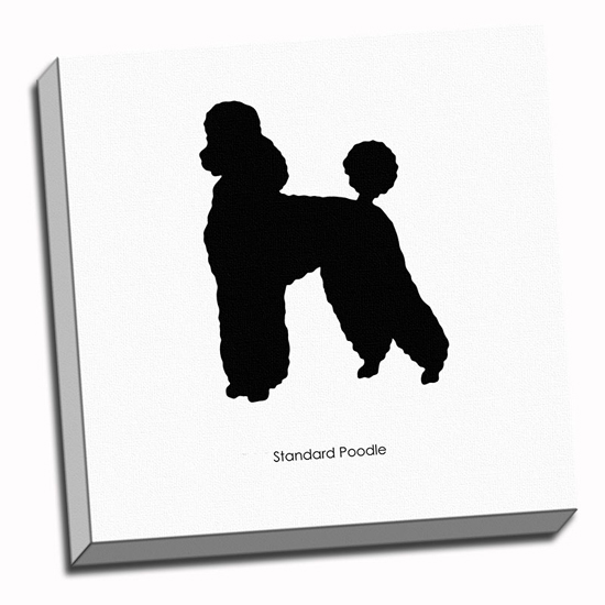Poodle Head Silhouette Standard poodle