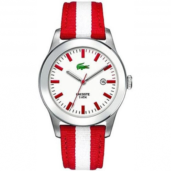 for lacoste sport menu0027s watch red and white band with red and white face 160 list