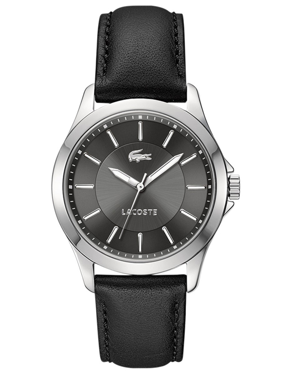 lacoste men s and women s watches 109 99 for lacoste men s watch black leather band gray dial 2000735 175 list price