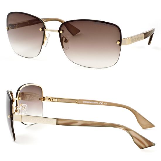 Armani Gold Frame Sunglasses : Emporio Armani Men s and Women s Sunglasses