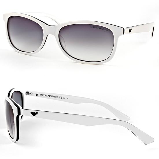 White Frame Armani Glasses : Emporio Armani Men s and Women s Sunglasses