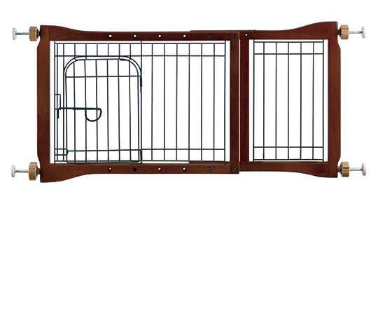 Adjustable Pet Gate With Door