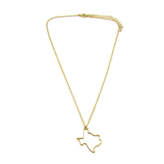 Gold plated state outline necklaces texas state necklace aloadofball Images