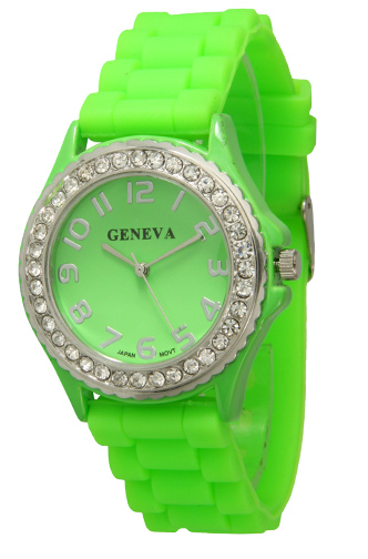 Crystal Embellished Silicone Watches