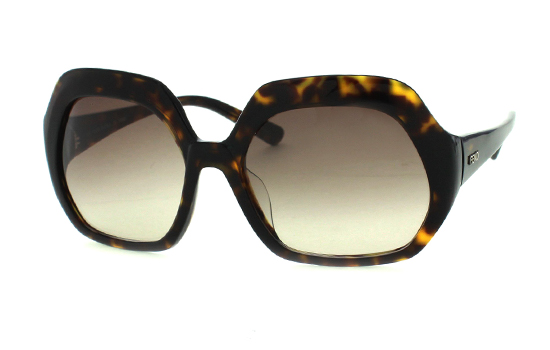 fendi eyewear freo  Fendi Women's Large Plastic Geometric Frames in Tortoise with Brown Lens  5124/215 $20825 List Price