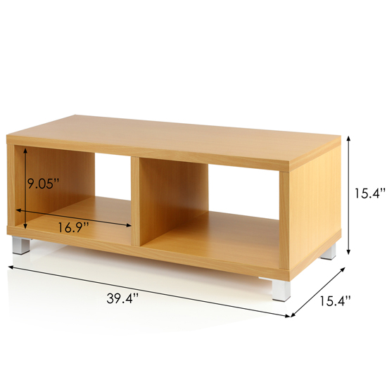 Nihon Contemporary Dual Function TV Stand Coffee Table In Cherry