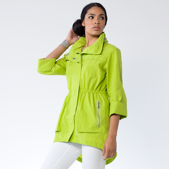 M and s green coat