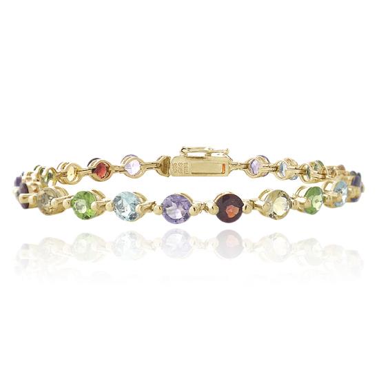 gemstone hoops and tennis bracelets