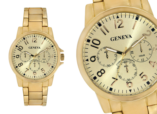 men s geneva watches 24 for a men s geneva watch gold alloy band and gold dial gm1085 39 99 list price