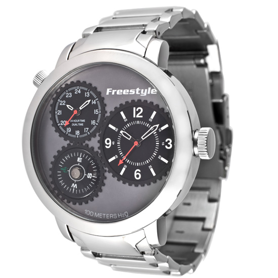 men s style watches 65 for a men s style watch stainless steel band and dark gray dial 101162 175 list price