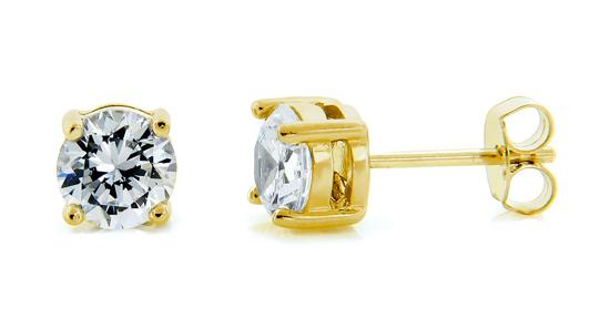 Black or White Simulated Diamond Stud Earrings