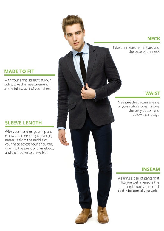 Men's Suits Sizing Chart