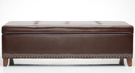 - Great Deal Furniture Leather Storage Ottoman
