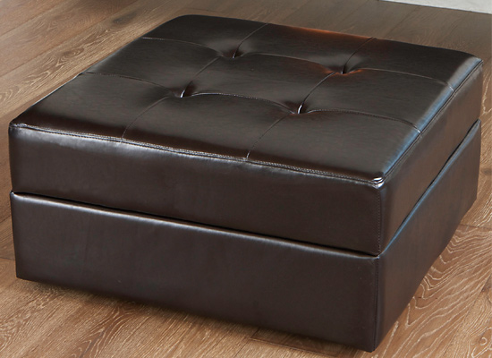 - Leather Storage Ottomans