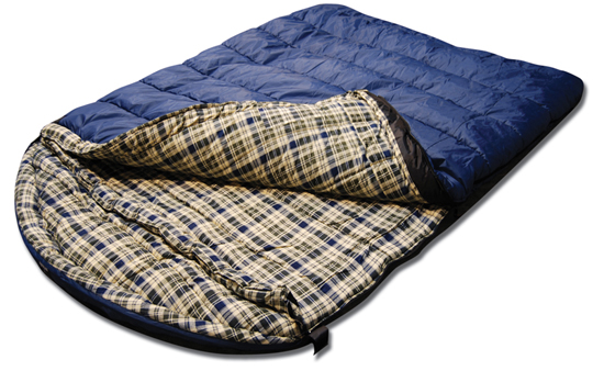 Roomy two-person sleeping bag available in cotton duck canvas and The Colossal Winter Double Sleeping Bag-XXXL Hooded Sleeping Bag for Couples - Perfect for Camping, Backpacking. Temperature Range °F. Fits Adults up to 7'1. Ripstop Water Resistant Shell. by Tough Outdoors.