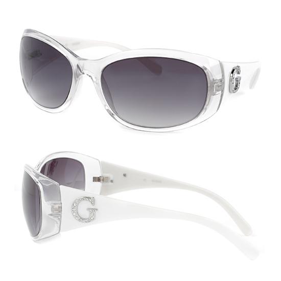 fc37856f582 Guess Women s Sunglasses  Transparent Plastic Frame