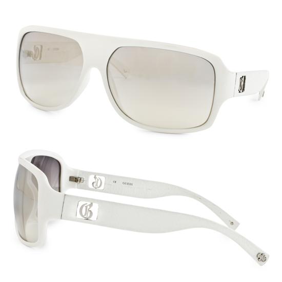 8d00d955b4a Guess Women s Sunglasses  White Plastic Frame