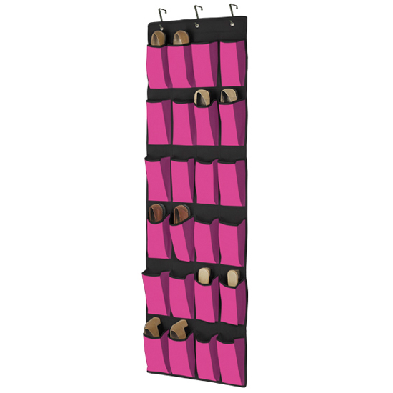 24 pocket the door shoe organizer