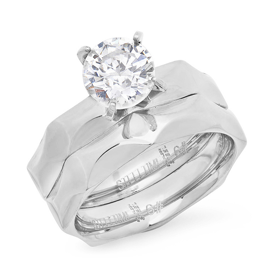 999 for a stackable engagement ring in stainless steel 40 list price - Stainless Steel Wedding Rings