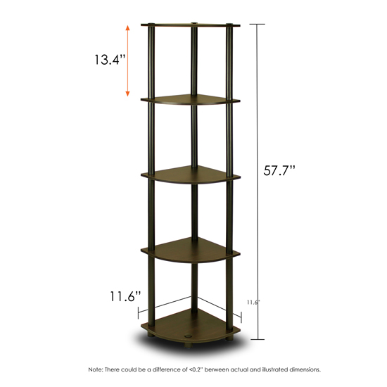 Turn 39 N 39 Tube 5 Tier Corner Display Rack