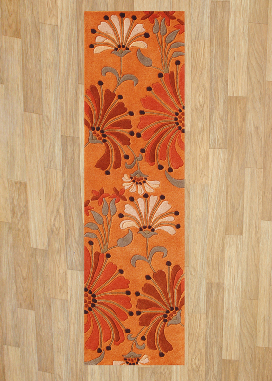 Orange Runner Rug Home Decor