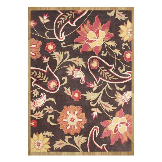 $238.99 For ZnZ Rugs Gallery Handmade Hand Tufted Metro Flower Chocolate  Wool Rug (8u0027 X 10u0027) ($499 List Price)