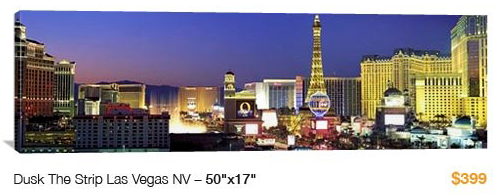 04vegas%20the%20strip City Skyline Canvas Print, 50x17 Just $99!
