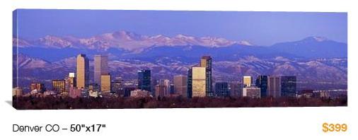 07denver%20skyline City Skyline Canvas Print, 50x17 Just $99!