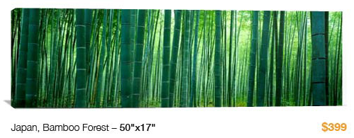 08japan%20bamboo%20forest City Skyline Canvas Print, 50x17 Just $99!