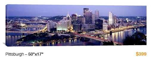 09pittsburgh City Skyline Canvas Print, 50x17 Just $99!