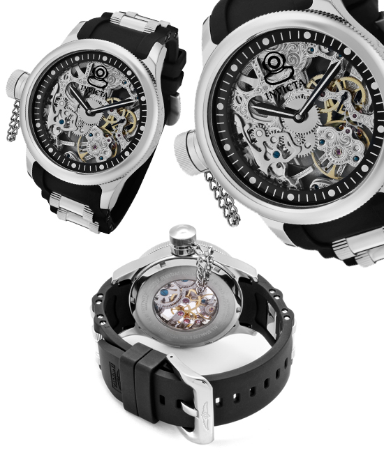 invicta russian diver watches 89 for invicta men s russian diver watch black band skeletonized silver dial stainless steel bezel invicta 1843