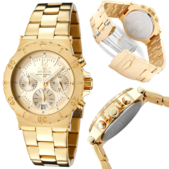 invicta men s specialty watches 90 for invicta men s specialty watch stainless steel gold plated band and gold dial invicta 1276 695 list price