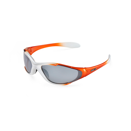 mens sport sunglasses a4kc  Invicta Sport Diver Men's Sunglasses: White-Orange Frames/Gray Lens
