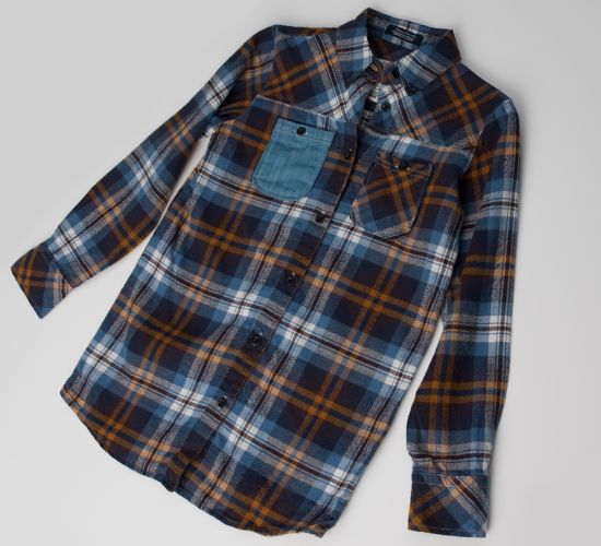 Jachs girls 39 button down shirts for Brown and black plaid shirt