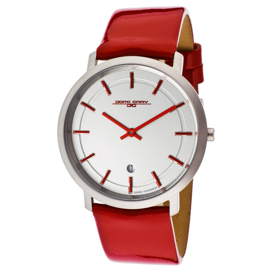 jorg grey men s watches 75 99 for jorg grey men s watch red patent leather band silver dial jorggray jg2700 13 395 list price