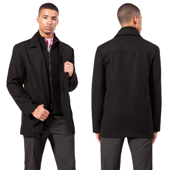 Collection Mens Black Peacoat Pictures - Reikian