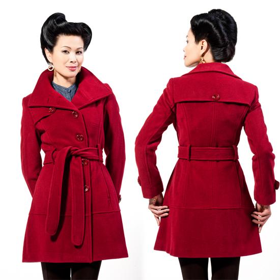 Kenneth Cole Women S Belted Wool Coats