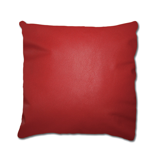 Red Leather Decorative Pillow : Cowhide and Leather Throw Pillows