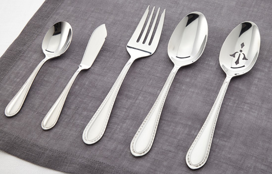 mikasa sinclair 65pc set with caddy stainless steel flatware set