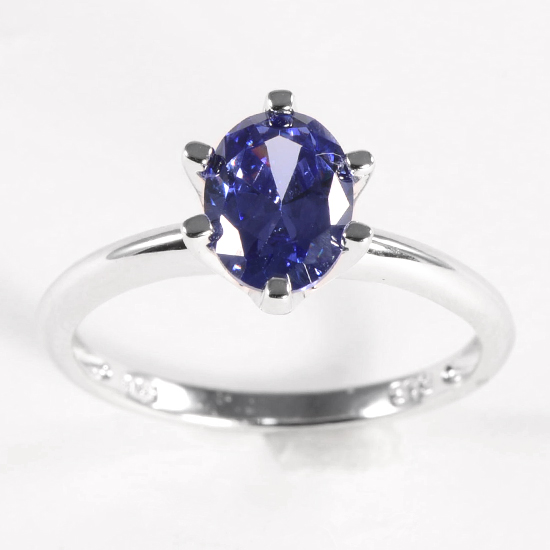 Simulated Sapphire Pendants Or Rings