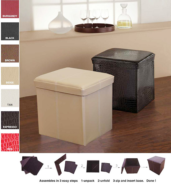- Collapsible Storage Ottoman